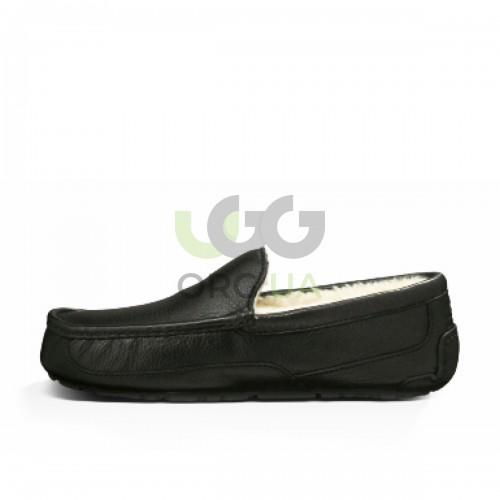 Ascot Leather Slipper Black