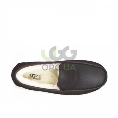 Ascot Leather Slipper Brown