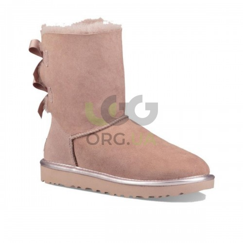 Classic Short Bailey Bow II Metall Pink